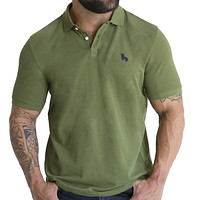 Olive Green Cotton Pique Polo One Piece Size XXL Available