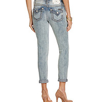 Miss Me Mid-Rise Rolled Skinny Jeans - Light Blue