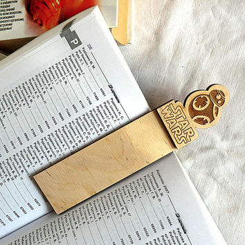 Star Wars bookmark Wooden Bookmark Wood Bookmark Star Wars Valentines gifts Gift Ideas