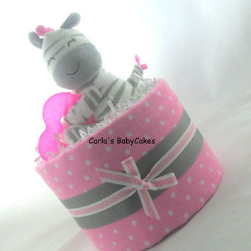 Mini diaper cake | Girl diaper cake | Baby diaper cake | Pink diaper cake | Baby shower gift | Baby shower decoration | Mom to be gift