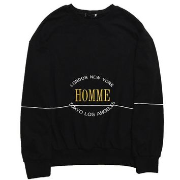 Dior HOMME Fashion Casual Pullover Long Sleeve Round Neck Embroider Sweater