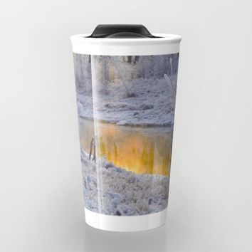 It's Gold Outside Travel Mug by Mixed Imagery