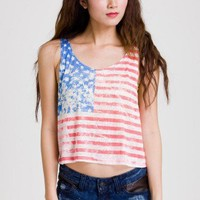 Retro American Flag Dyed Top - Back in stock - Retro, Indie and Unique Fashion
