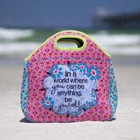Be Yourself Neoprene Lunch Bag