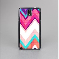 The Vibrant Pink & Blue Chevron Pattern Skin-Sert Case for the Samsung Galaxy Note 3