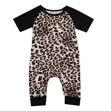 Baby Boy Girl cotton Leopard Romper  new arrival fashion jumpsuit Outfits Kids Clothes