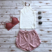 Terry Shorts in Blush