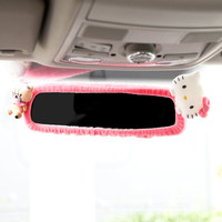 Hello Kitty Rear View Mirror Cover