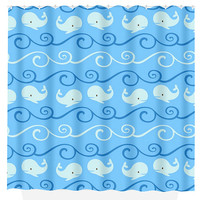 Whale SHOWER CURTAIN Water Waves Nautical Whales Bathroom Custom MONOGRAM Ocean Child Kid Bath Decor Bath Beach Towel Plush Bath Mat Usa