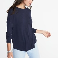 Plush-Knit Pocket Tee for Women | Old Navy