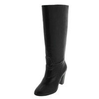Lord & Taylor Womens Madise Leather Stacked Knee-High Boots