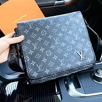 Louis Vuitton LV Fashion Women Men Leather Office Bag Crossbody Satchel Shoulder Bag