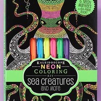 Neon Coloring Book with 6 Markers