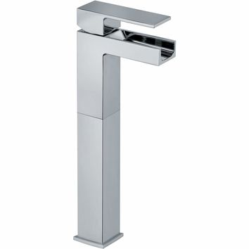 LaToscana Kome waterfall single handle Bathroom vessel filler tall faucet (1.2 GPM)