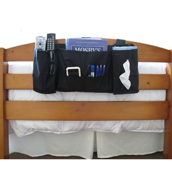 Headside Caddy for holding items bedside is a must have dorm accessory that is space saving for guys and girls dorms
