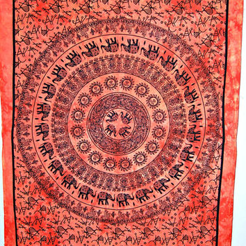 Elephant Mandala Tapestry in sun moon,dorm wall hanging,Hippy Hippe mandala wall hanging,Indian Mandala Tapestry, Bohemian Wall art, throw