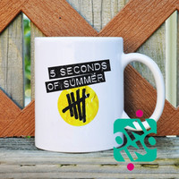 5 Seconds of Summer Logo Coffee Mug, Ceramic Mug, Unique Coffee Mug Gift Coffee