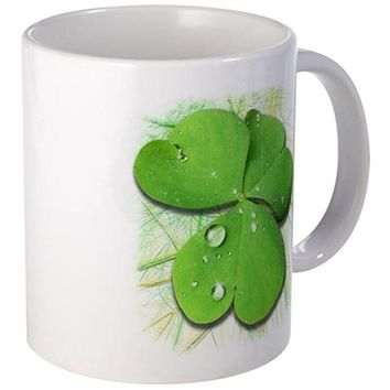 GREEN SHAMROCK WITH DEW MUGS
