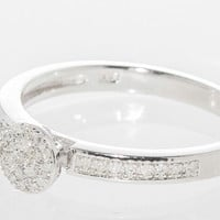 Sterling Silver .15ct Genuine Diamond Micro Pave Ring Size 7