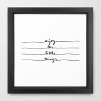 Little Things Framed Art Print by Mareike Böhmer Graphics