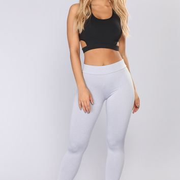 Bounce It Booty Shaping Active Leggings - Heather Grey