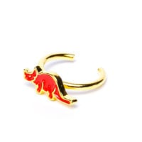 Joyrich x Giza Dinosaur Triceratops Micro Fingertip Ring Gold One