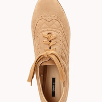 Sporty Quilted Faux Suede Brogues | FOREVER 21 - 2079531962