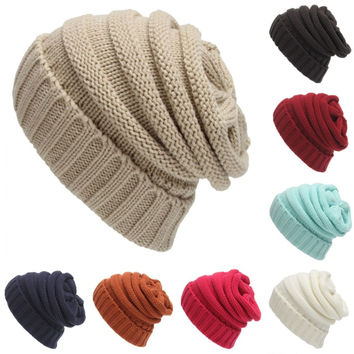 Knit Beanies, Slouchy Baggy Skullies in Many Assorted Colors.