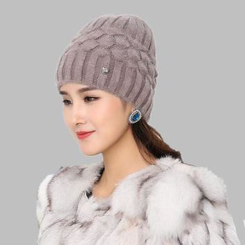 Free shipping Women Spring Autumn Watch Cap Woman Wool Knit Beanie Cap Braided Hat skull winter hats for women Girls warm hat