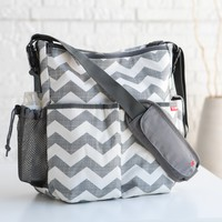 Skip Hop Duo Essential Diaper Bag - Chevron | www.hayneedle.com