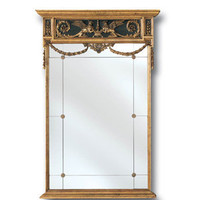 Classic European Mirror with Griffins and Scroll Accents Finished In Antique Gold by La Barge - The Online Furniture Store