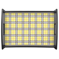 Classic Yellow and Red Plaid Tartan Pattern Food Trays
