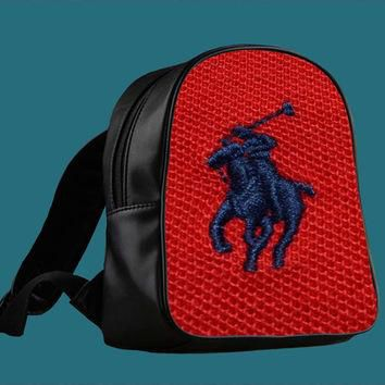 Polo Ralph Lauren Original Logo in Red for Backpack / Custom Bag / School Bag / Childr