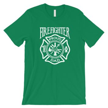 Firefighter Dad Mens Strong-Willed Great Father's Day Shirt Gift