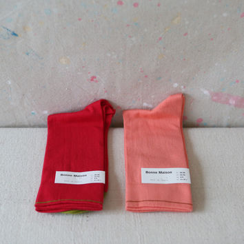 French Red or Pink Socks