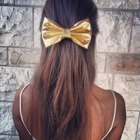 Exclusive Gold Edition  - Gold Bow - hair bow