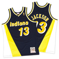 Mitchell & Ness Mark Jackson 1996-97 Authentic Jersey Indiana Pacers In Dark Navy