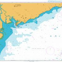 British Admiralty Nautical Chart 1261: Approaches to Song Sai Gon