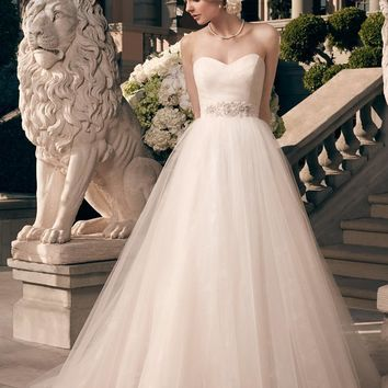 Casablanca Bridal 2177 Strapless Shimmer Ball Gown Wedding Dress