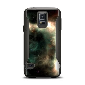 The Dark Green Glowing Universe Samsung Galaxy S5 Otterbox Commuter Case Skin Set