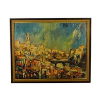 Pre-owned Mid-Century Sunny Spain Lithograph - Jack Laycox