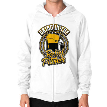 Bring in the relief pitcher Zip Hoodie (on man)