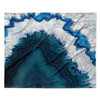 "KESS Original ""Blue Geode"" Nature Photography Fleece Throw Blanket"