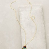 Striated Pendant Necklace by Anthropologie Blue Motif All Necklaces