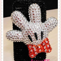bling crystals iphone cover Disney 3d mickey mouse theme cute iphone 5 case iphone 4 case iphone 4s case ipod 5 case iphone 3gs case