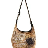 Licensed cool Harry Potter Marauders Map School Hobo Tote Bag School Purse Solemnly Swear NWT