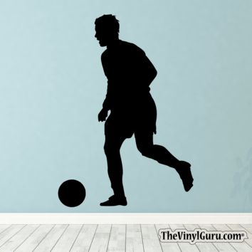 Soccer Wall Decal - Man Futbol Player Sticker #00023