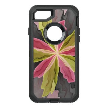 No Sadness, Joy, Fantasy Flower Fractal Art OtterBox Defender iPhone 7 Case