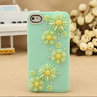 Pearl Sunflower iphone 5 case iphone 4 iphone 4s case light blue case