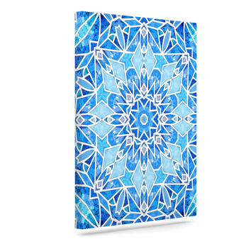 "Art Love Passion ""Star Snowflake"" Blue Aqua Canvas Art"